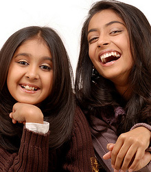 stock photo of two girls